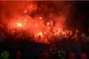 Leicester City face action after flares lit before Copenhagen...