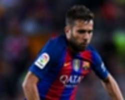 Pique and tearful Alba limp off as Barcelona suffers double injury blow