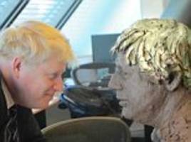 Boris Johnson is immortalised in a clay bust