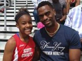 Grieving friends of the daughter of Olympian Tyson Gay reveal she was close with one of the arrested men who tweeted 'I love you Trinity' after she was killed in the crossfire during a gun deal gone bad
