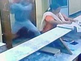 woman survives being stabbed and slashed 21 times by a machete-wielding thug in brutal attack caught on camera in india