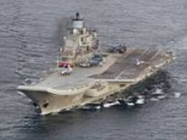 russia's northern fleet passes through the north sea and english channel