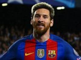 Barcelona 4-0 Manchester City: Lionel Messi scores a hat-trick as Claudio Bravo sees red for visitors