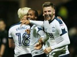 preston 3-1 huddersfield: paul gallagher creates two and scores one as north end down terriers