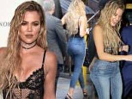 Khloe Kardashian dons lacy bodysuit and jeans at Good American launch event in LA