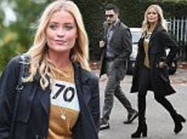 Strictly Come Dancing's Laura Whitmore cuts a stylish figure as she heads to rehearsals