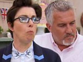 Sue Perkins clashes with her Great British Bake Off co-star Paul Hollywood