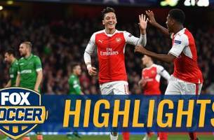Ozil gets first career hat trick against Ludogorets | 2016-17 UEFA Champions League Highlights