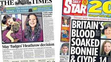 newspaper review: heathrow, spalding, and child migrants