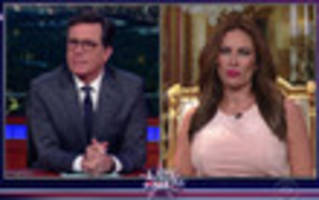 Watch Fake Melania Trump Defend Her Husband's 'Locker Room Talk' To Stephen Colbert