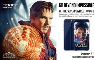 Global Smartphone Brand Honor Teams with Marvel Studios' Doctor Strange to Bring Bravery to the Screens