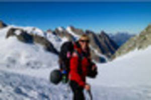 Why a Swansea woman found herself near the top of one of the Alps...