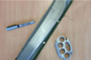 Machete and knuckleduster seized in Gloucestershire today