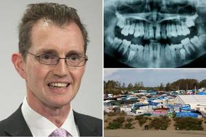 pretty much everyone has trashed this tory's demand to x-ray migrants' teeth