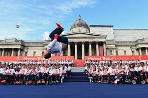 olympic and paralympic stars meet queen at 'amazing' buckingham palace reception