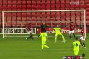a liverpool fc and wales star of the future just scored this outrageous goal against manchester united