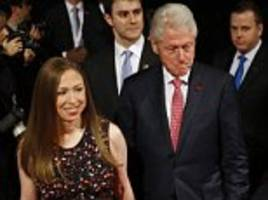 bill faces his accusers and doesn't shake melania's hand