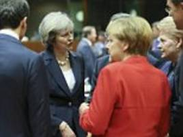 theresa may warns eu leaders that brexit means brexit at her first summit as pm