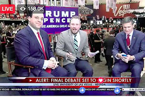did donald trump just use the debate to test-launch trump tv?