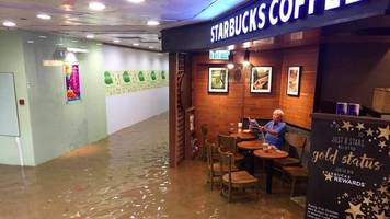'Starbucks uncle' captures Hong Kong hearts during flooding