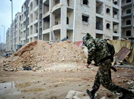 inside bustan al-qasr, the front line of a divided aleppo