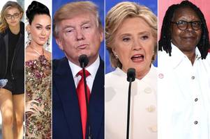 celebrities react to last night's donald trump and hillary clinton's final us presidential election debate