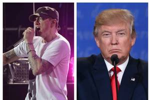 eminem brands donald trump 'a f*****' loose cannon' in angry rap track
