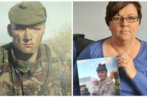 mother's pride as town pays tribute to her son on new memorial to fallen soldiers