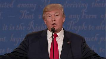 Presidential debate: Trump wavers over accepting election result