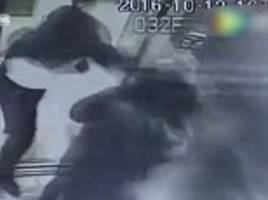 Man in China savagely beats up woman in front of her child inside lift