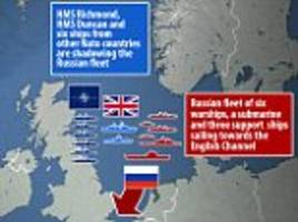 Russia's attack fleet closes in on Dover as Putin's warships prepare to enter the English Channel TODAY on their way to launch strikes in Syria