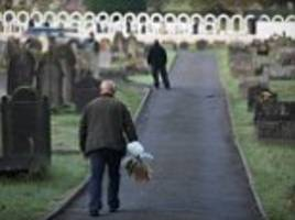 'the lives of an entire generation were extinguished before they reached their prime': aberfan falls silent to remember the 144 victims of disaster when village school was buried in landslide 50 years ago
