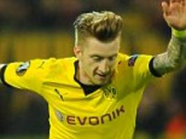 borussia dortmund star marco reus back in training... but coach thomas tuchel admits star won't be rushed
