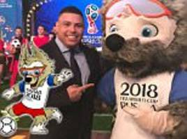 russia 2018 world cup mascot zabivaka the wolf unveiled with help from brazil legend ronaldo