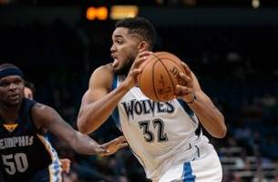 Timberwolves' Towns #7 on List of Top-100 NBA Players