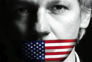 assange lashes out at america: rigged primary, rigged media, rigged candidate