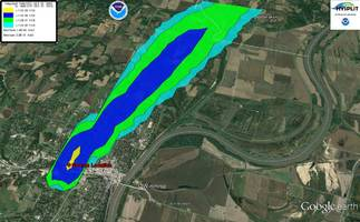 chlorine plume forms in atchison, ks after chemical spill; evacuation underway