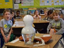 Dows Lane Students Study Properties of Liquids and Solids Using Experiments