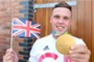 olympic hero and stoke city fan joe clarke gives his premier...