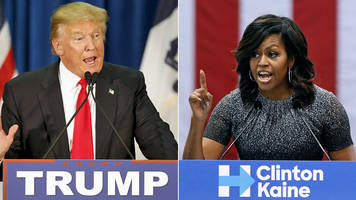 us election: trump takes aim at first lady michelle obama
