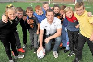 olympic rugby hero helps inspire the next generation of east kilbride sports stars