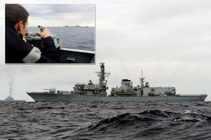 tensions rise as royal navy destroyers sent to meet russian warships heading towards britain