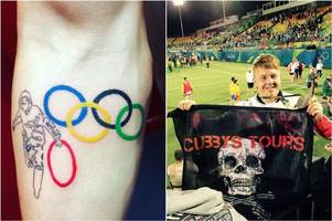 James 'Cubby boi' Davies gets a new tattoo to celebrate his Olympic medal... but all is not as it seems
