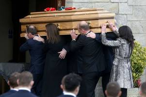 Tragic Anthony Foley laid to rest amid emotional scenes as widow helps carry his coffin