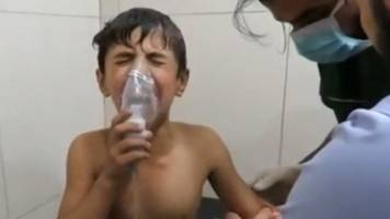 syria attack: government accused of using chlorine