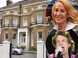 jerry hall's eviction fears are all over after mick jagger lets her stay in the £13million mansion she used to share with her rolling stone former love despite marriage to rupert murdoch