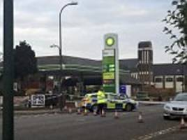 two men and a woman are rushed to hospital after triple stabbing horror in nottingham