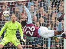 kodjia's late volley earns second win in a week for steve bruce's aston villa against fulham