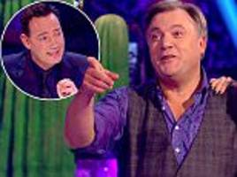 'we'll try that in the bar': spray-tanned ed balls threatens to lift judge craig revel horwood after being savaged for cringeworthy move on strictly