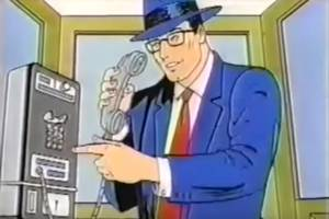 superman shilled for at&t in the '80s
